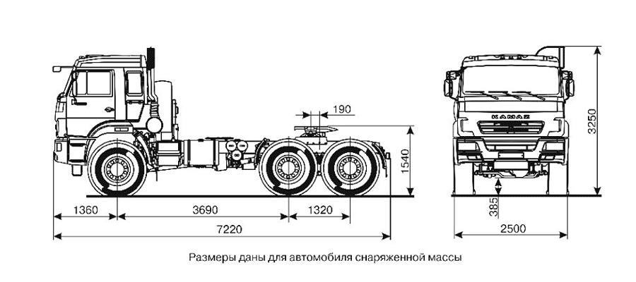 седельный тягач камаз 44108 чертеж