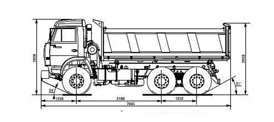 Самосвал КамАЗ 45142-011 (Евро3) чертеж