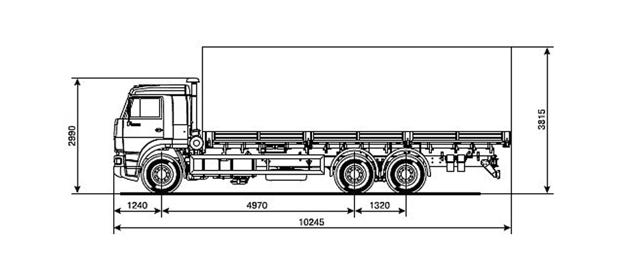 Бортовой камаз 65117-029 чертеж