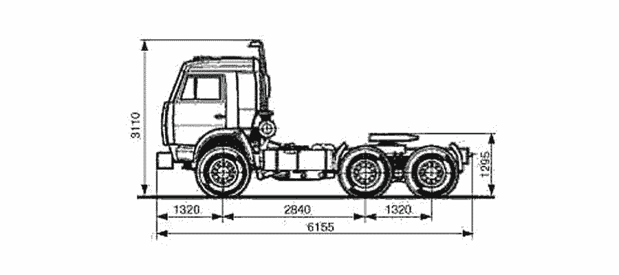 Седельный тягач КАМАЗ 54115-010-15 чертеж
