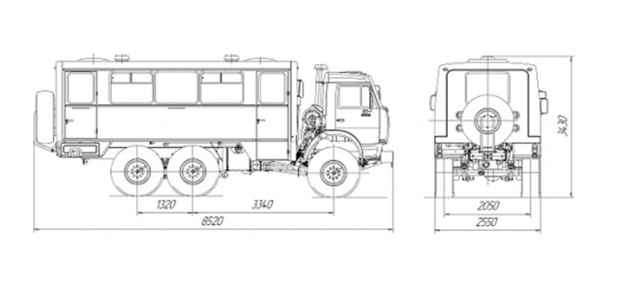 Вахтовый автобус НЕФАЗ-4208