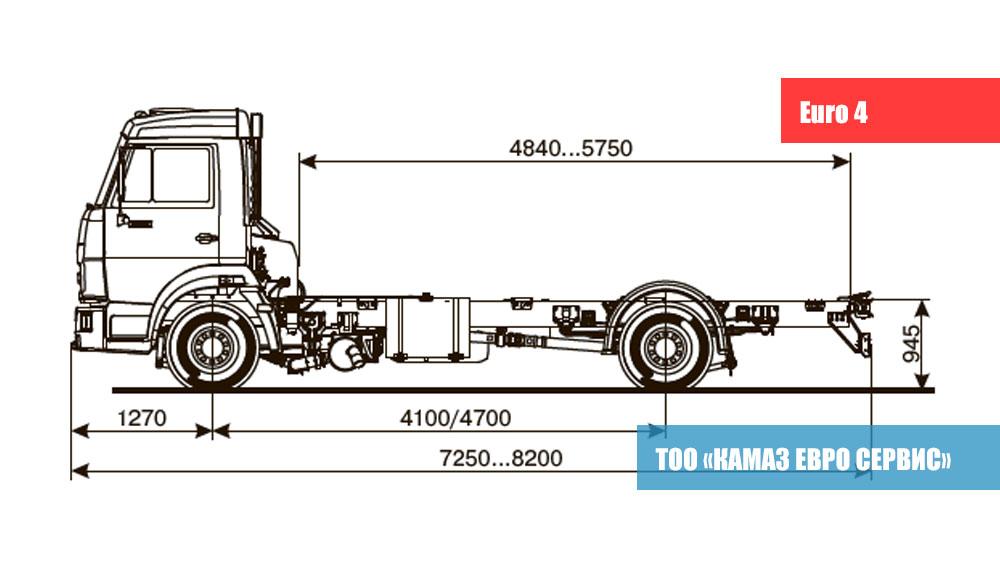 ШАССИ KАМАZ - 4308-R4