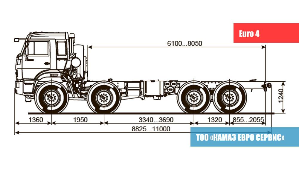 ШАССИ KАМАZ - 63501-40