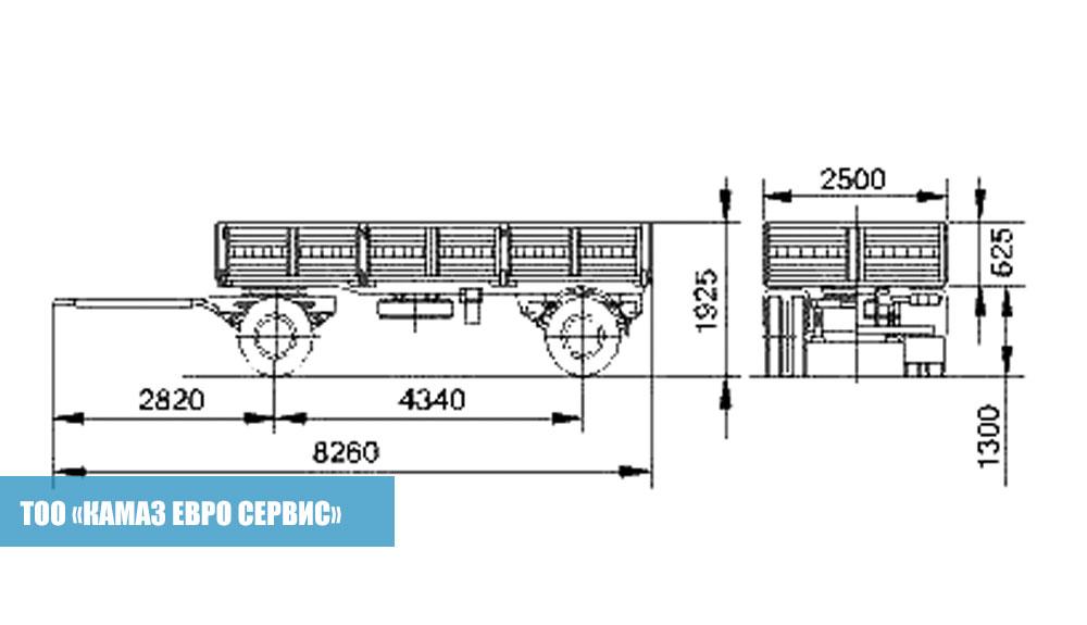Бортовой прицеп СЗАП-8357-02021 (4)