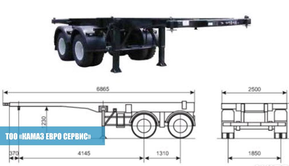 Полуприцеп-контейнеровоз-СЗАП-9905,3