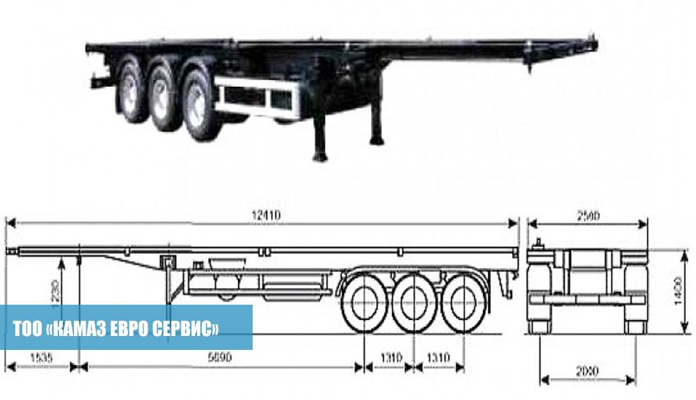 Полуприцеп-контейнеровоз-СЗАП-9915,2