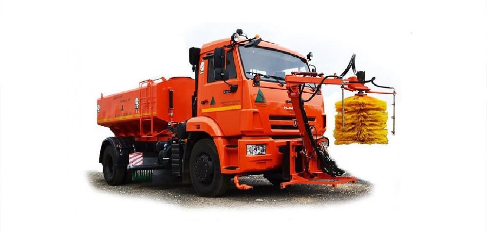 Комбинированная дорожная машина на базе шасси КАМАЗ 53605-А4 (г/п 13,6т)